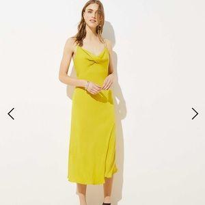Loft Twist Midi Slip Dress